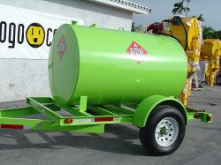 Fuel Diesel Tank W Single Axle Trailer 300 Gallon