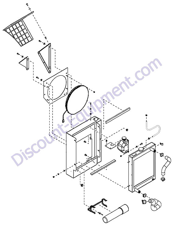 Generac 0057470 Xg8000e Back Panel Assembly Parts Diagram
