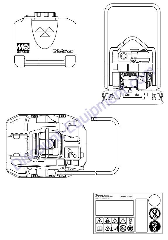 Multiquip Mikasa Mvc88vth Mvc88vthw Forward Plate