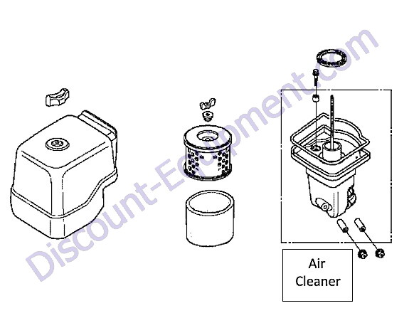 Multiquip MVH128GH Reversible Plate Compactor Air Cleaner Assembly