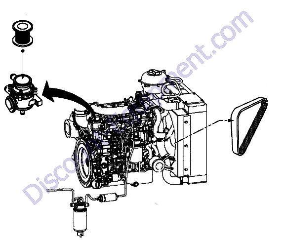 Hatz 4h50tic Engine Service Parts Assembly