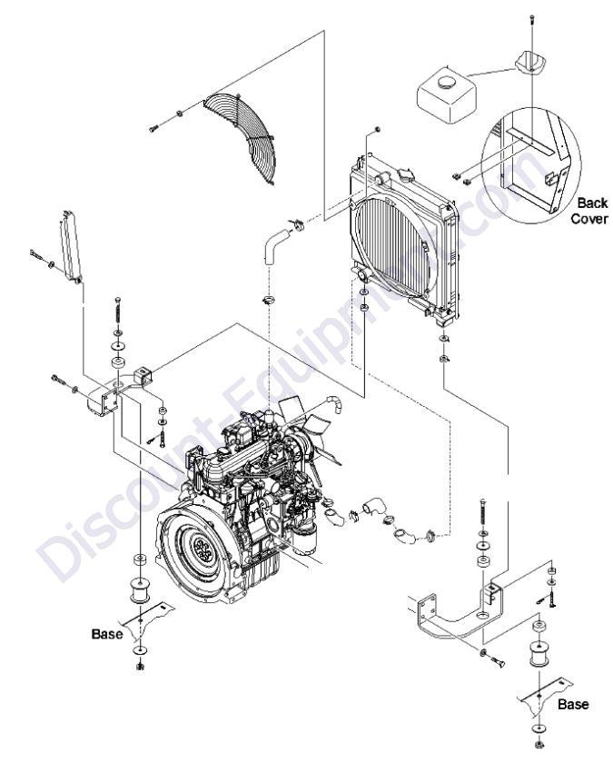 engine kubota d1105-e3bg view 1
