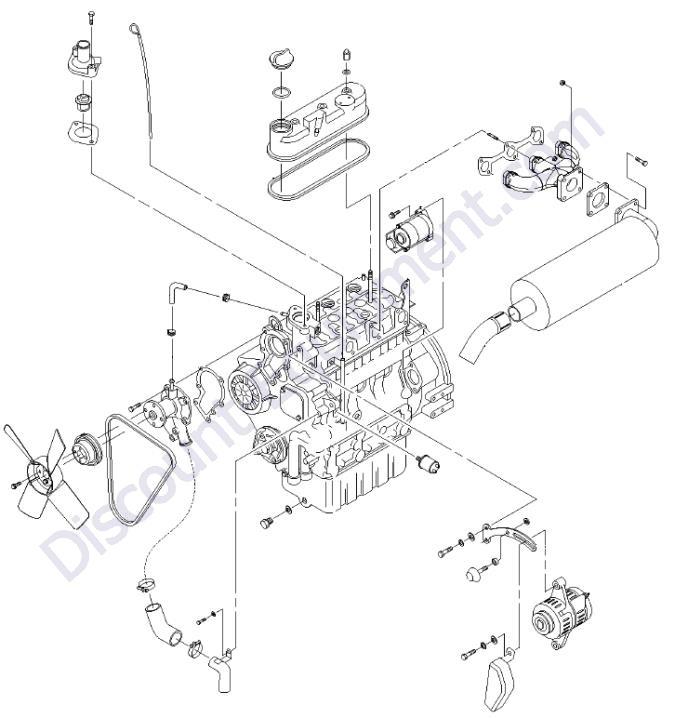 engine kubota d1105-e3bg view 2