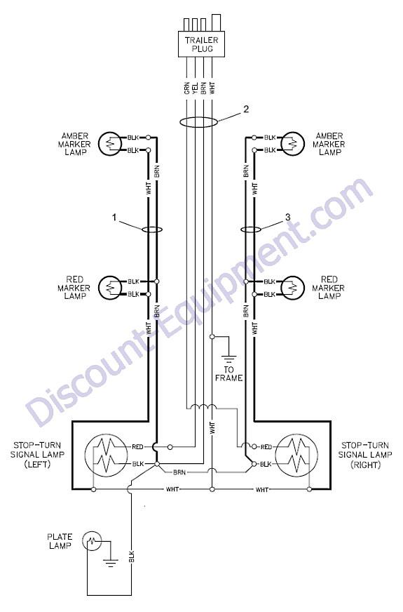Generac Magnum MLT4250 Trailer Lights Wiring Diagram - Discount-Equipment .comDiscount Equipment